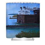 Ore Dock Shower Curtain