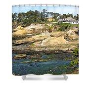 Oregon Coastline Shower Curtain