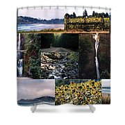 Oregon Collage From Sept 11 Pics Shower Curtain