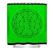 Oreo In Green Shower Curtain