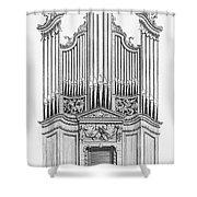 Organ, 1760 Shower Curtain