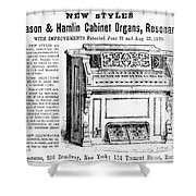 Organ Ad, 1870 Shower Curtain
