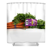 Organic Carrots Shower Curtain