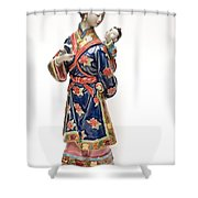 Oriental Lady And Child Shower Curtain