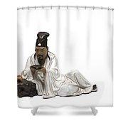 Oriental Warrior At Rest Shower Curtain