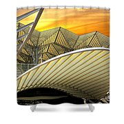 Oriente Station Shower Curtain by Carlos Caetano