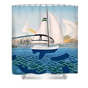 Coronado Sailin' - Memoryscape Shower Curtain