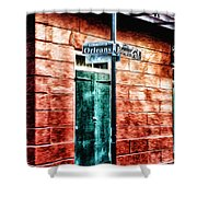 Orleans And Bourbon Streets Shower Curtain