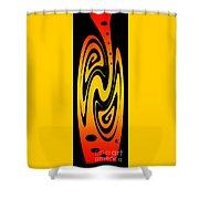 Ornamental Vase - Fire Shower Curtain