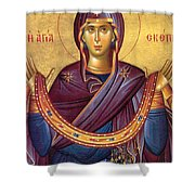 Orthodox Icon Virgin Mary Shower Curtain