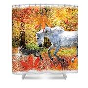 Osada's Fall Fun Shower Curtain