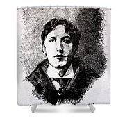 Oscar Wilde Shower Curtain