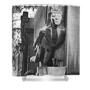 Oscar Wilde Monument Shower Curtain