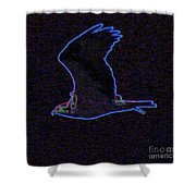 Osprey In Neon Blue Shower Curtain