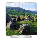 Ossians Grave, Co Antrim, Ireland Stone Shower Curtain