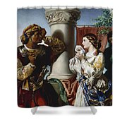 Othello And Desdemona Shower Curtain