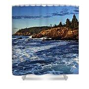 Otter Cliffs Shower Curtain