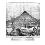 Otter Mountain, Virginia Shower Curtain