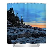Otter Point At Dawn Shower Curtain