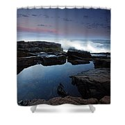 Otter Point Reflections II Shower Curtain