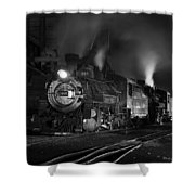 Our Best Side Black And White Shower Curtain