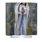 Our Lady Of Lourdes 2 Shower Curtain