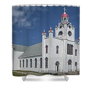 Our Lady Of Mercy Shower Curtain