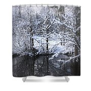 Our Pond In The Snow Shower Curtain