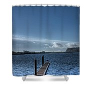 Out Into The Bay Shower Curtain