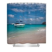 Out Of Border. Maldives Shower Curtain