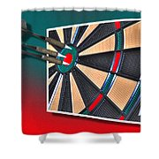 Out Of Bounds Bullseye Shower Curtain