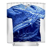 Out Of Sight Mens Blue Shirt Shower Curtain