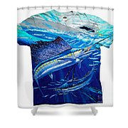Out Of Sight Mens Shirt Shower Curtain