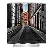 Out Of The Alley Shower Curtain
