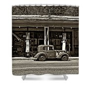 Out Of The Past Sepia Shower Curtain