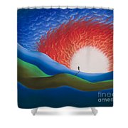 Out Of The Sun Shower Curtain