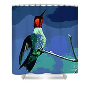 Out On A Limb - Blue Shower Curtain
