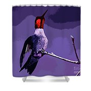 Out On A Limb - Purple Shower Curtain