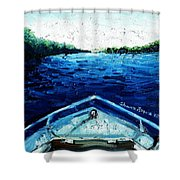 Out On The Boat Shower Curtain