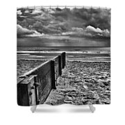 Out To Sea Monochrome Shower Curtain