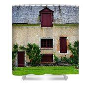 Outbuildings Of Chateau Cheverny Shower Curtain by Louise Heusinkveld
