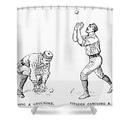 Outfielder, 1889 Shower Curtain