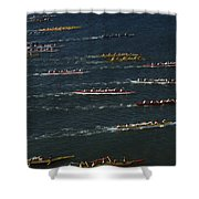 Outrigger Canoes Race From Molokai Shower Curtain