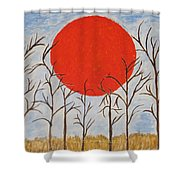 Outset Sunset Shower Curtain