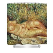 Outstretched Nude Shower Curtain