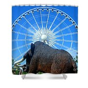 Over Mammoth Proportion  Shower Curtain