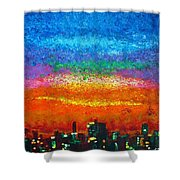 Over The Bay 17 45 Shower Curtain