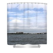 Over The Pass Shower Curtain