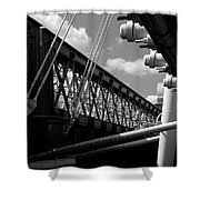 Over The Thames Shower Curtain