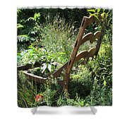 Overgrown Chair Shower Curtain